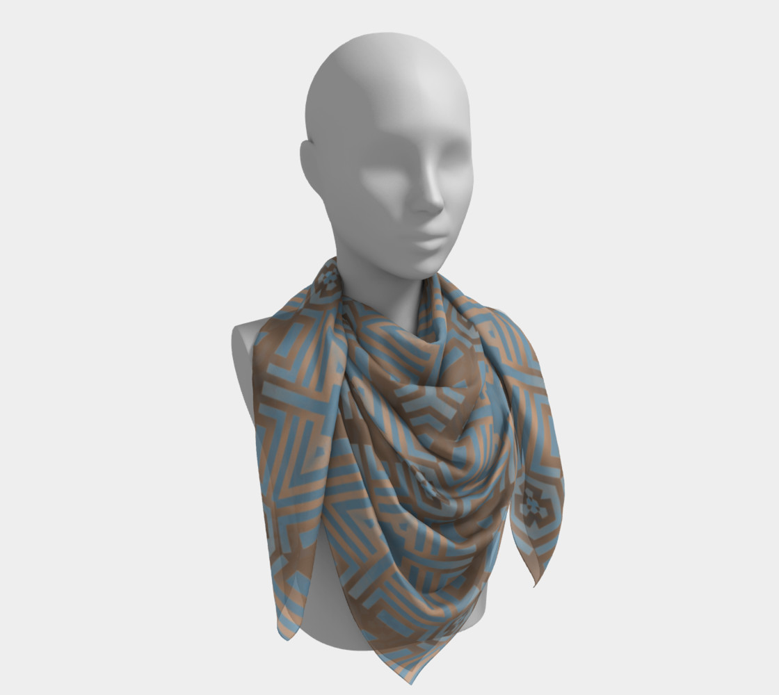 Beige and Blue Contemporary Tribal Pattern preview #4