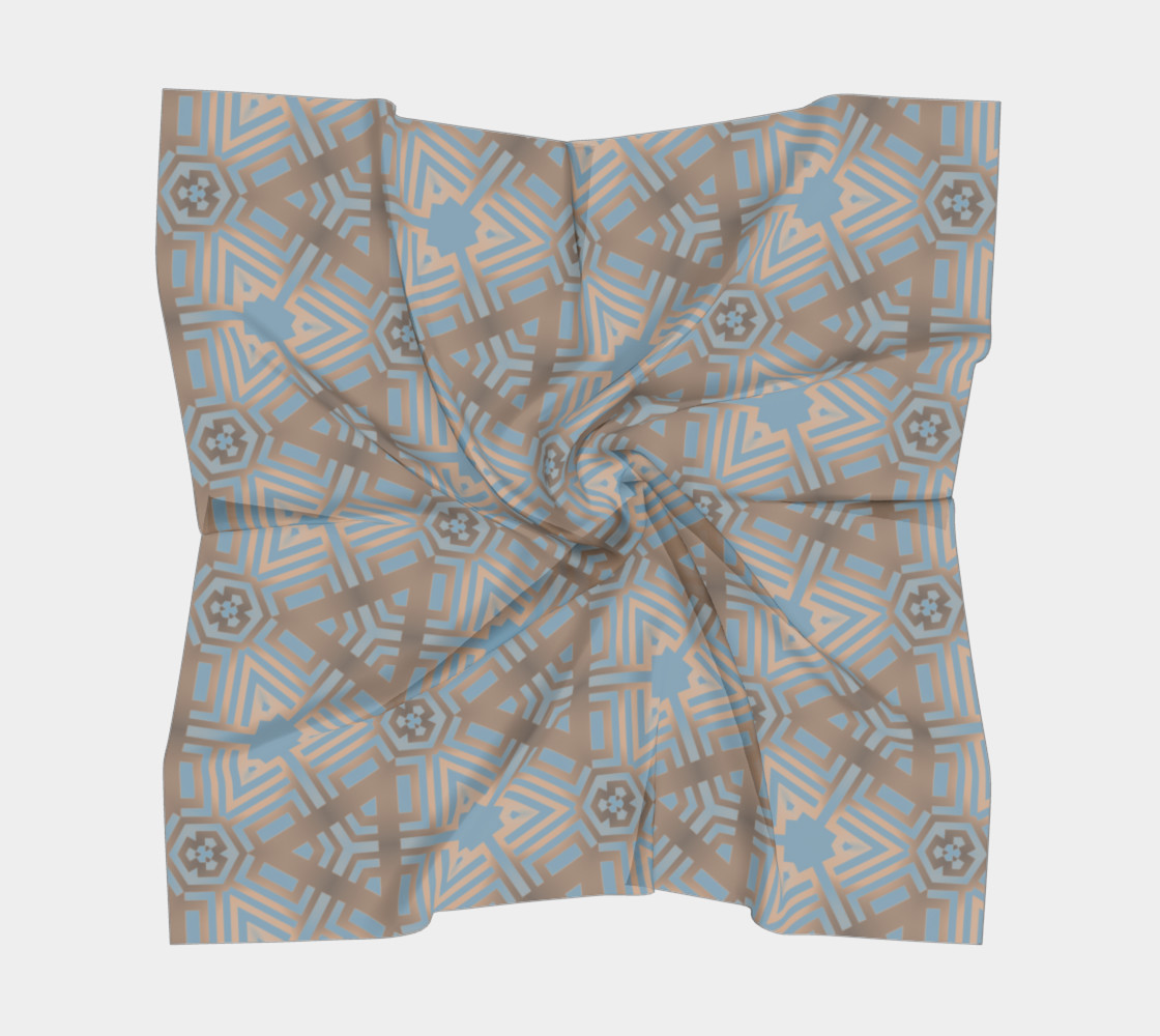 Beige and Blue Contemporary Tribal Pattern preview #5