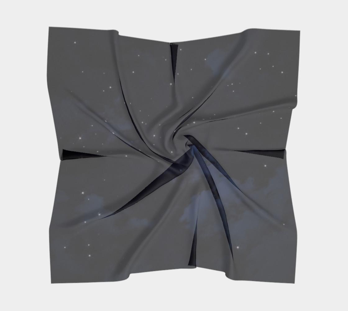 Aperçu de Vintage Blue Galaxy Scarf #5