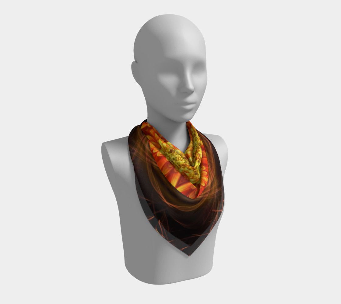 Large Nature Spirit Silk Scarf preview #2