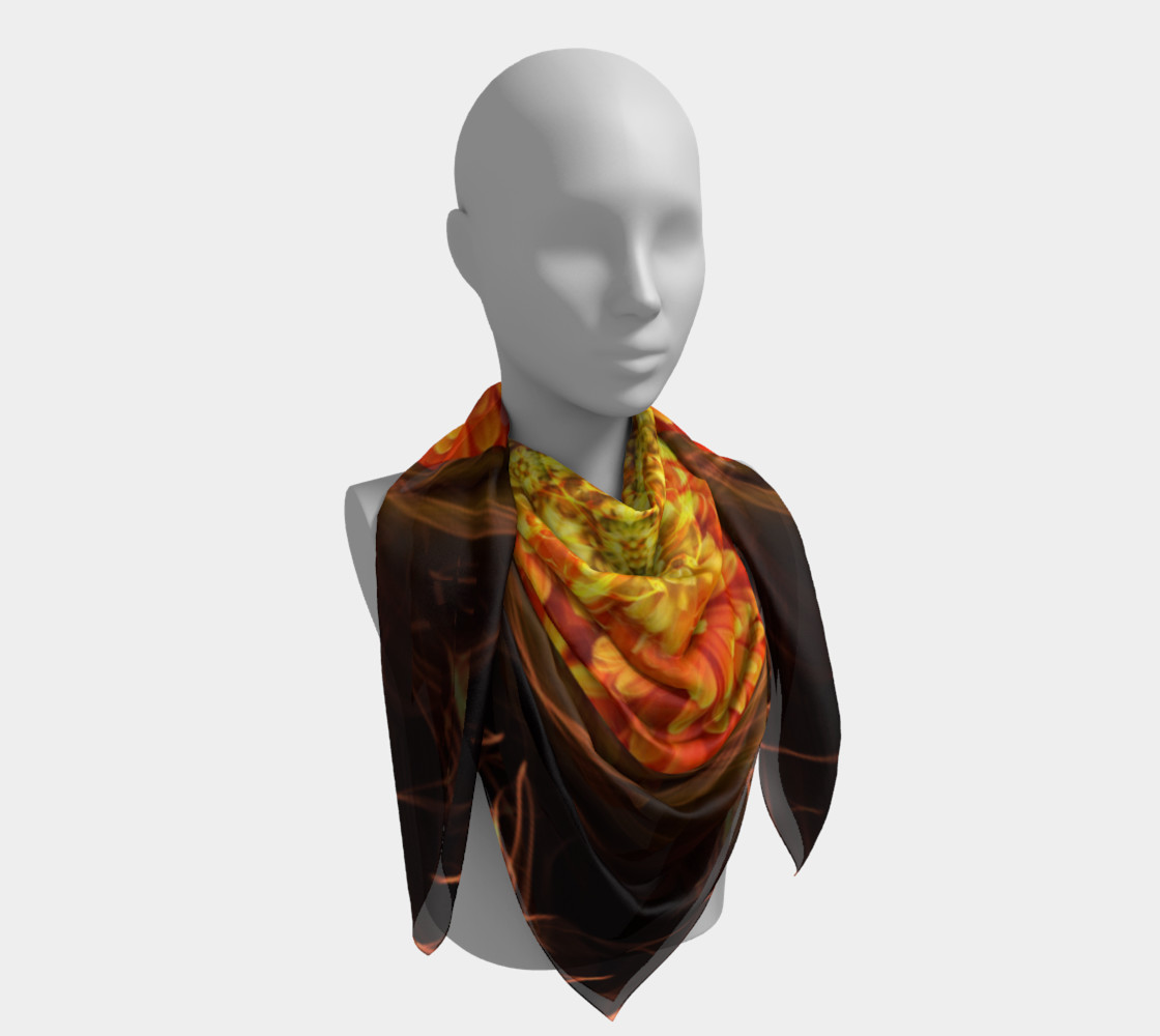 Large Nature Spirit Silk Scarf preview #4
