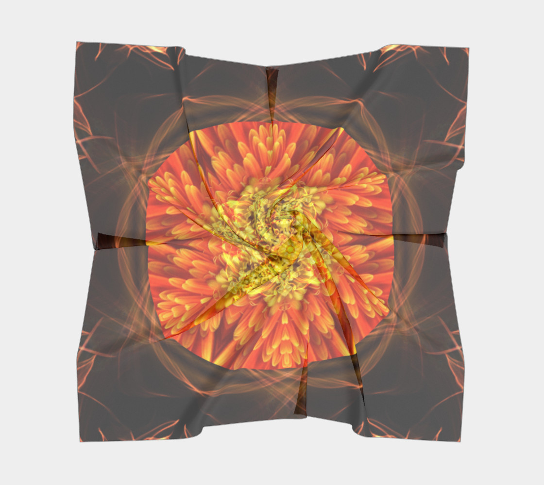 Large Nature Spirit Silk Scarf preview #5