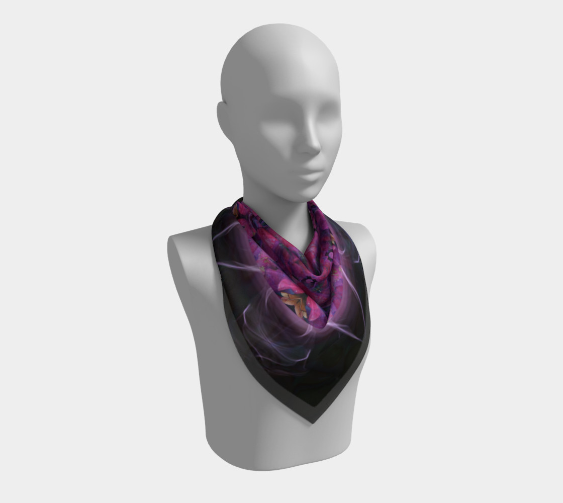 Hydrangea Silk Scarf preview #2