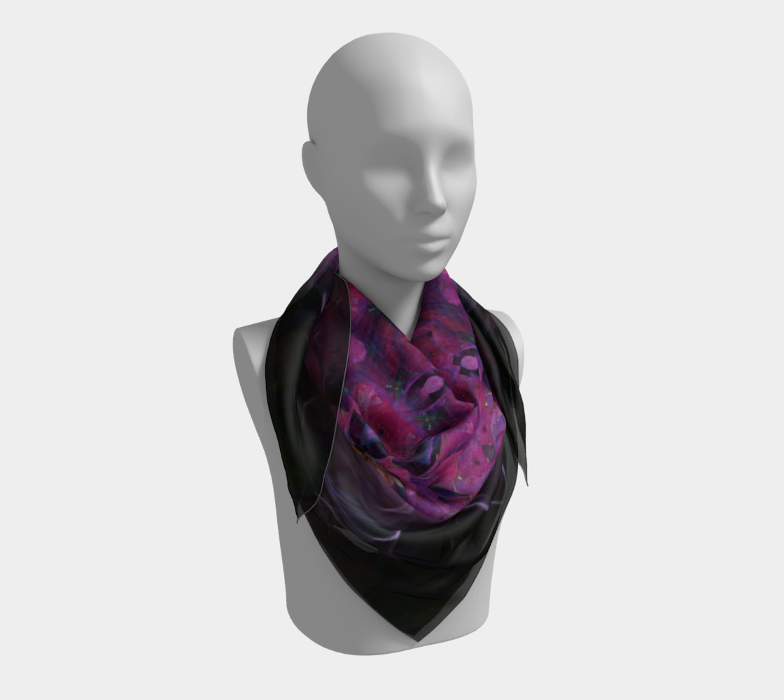Hydrangea Silk Scarf preview #3