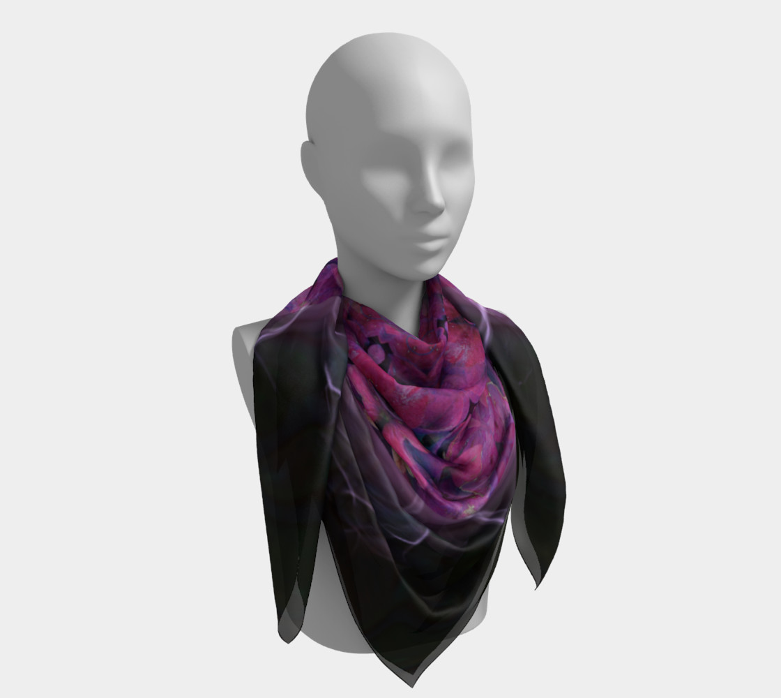 Large Hydrangea Silk Scarf preview #4
