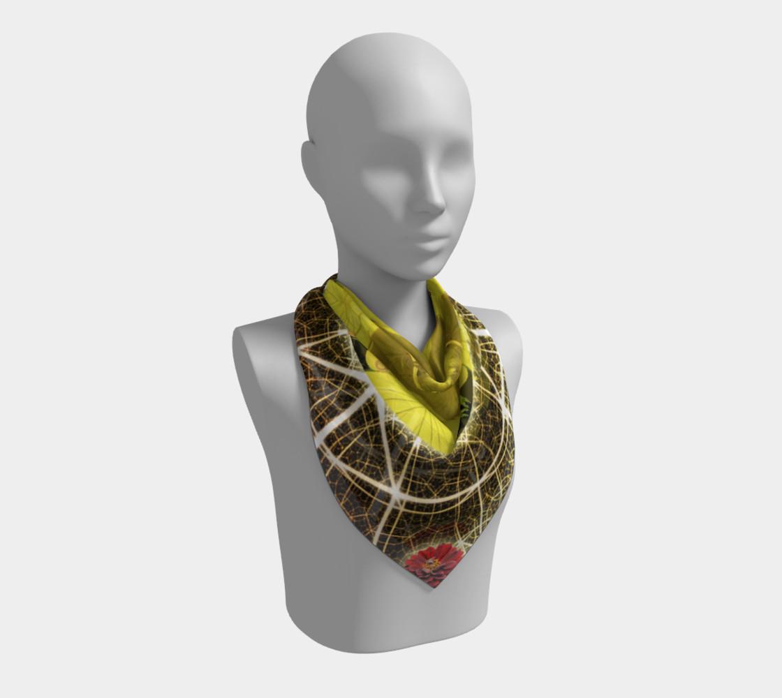 Aperçu de Queen Bee Mandala Large Silk Scarf #2