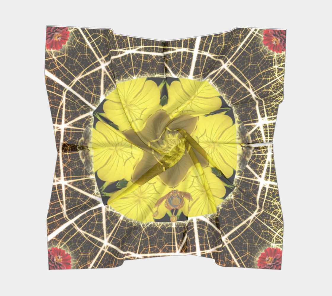 Queen Bee Mandala Large Silk Scarf preview #5