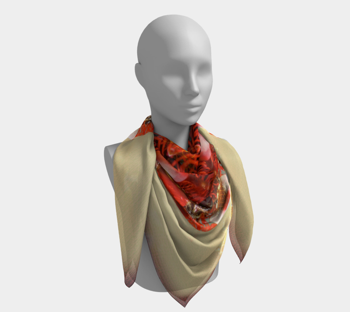 Large Ambrosia Silk Scarf preview #4