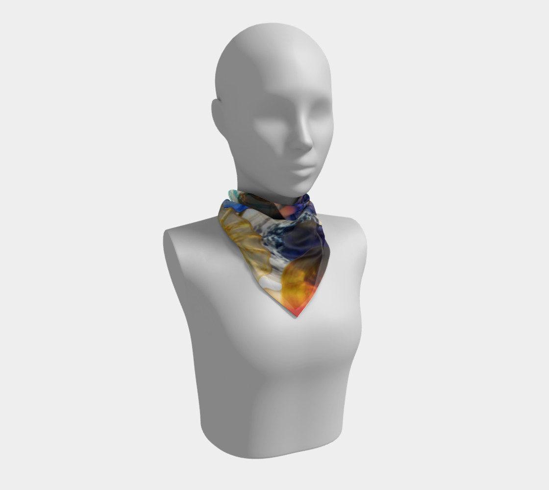 Fragile Flowers Large Silk Scarf preview #1