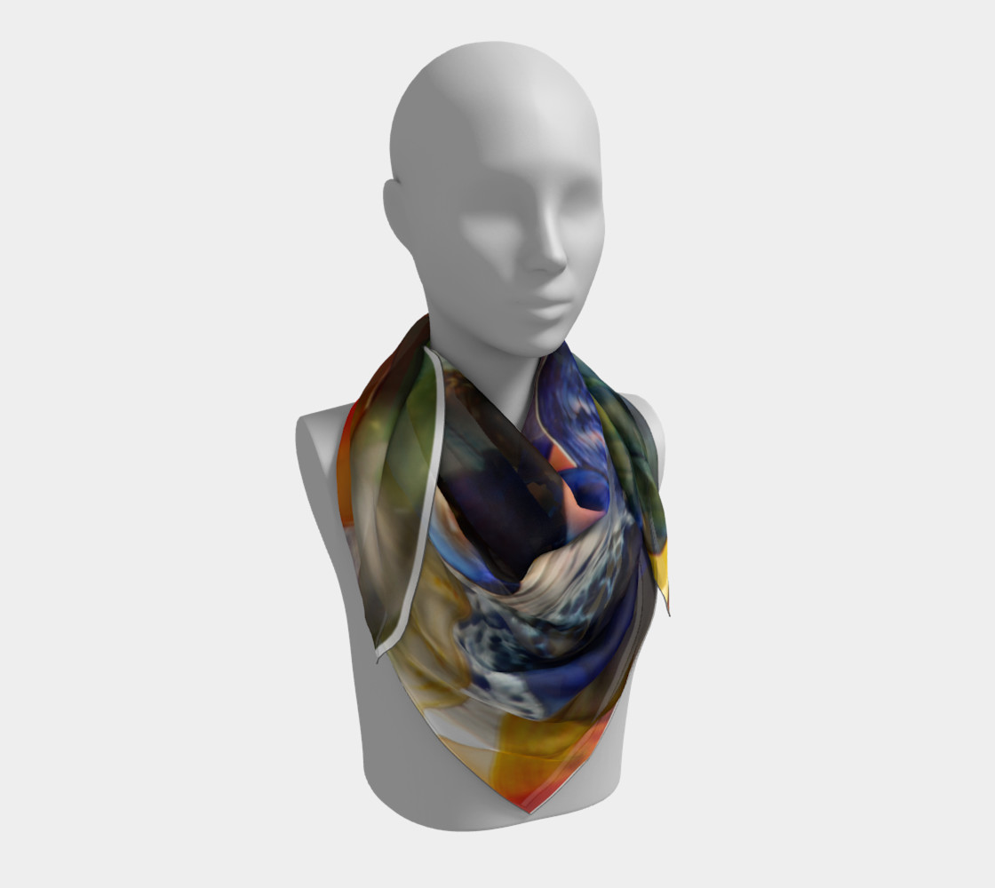 Fragile Flowers Large Silk Scarf preview #3