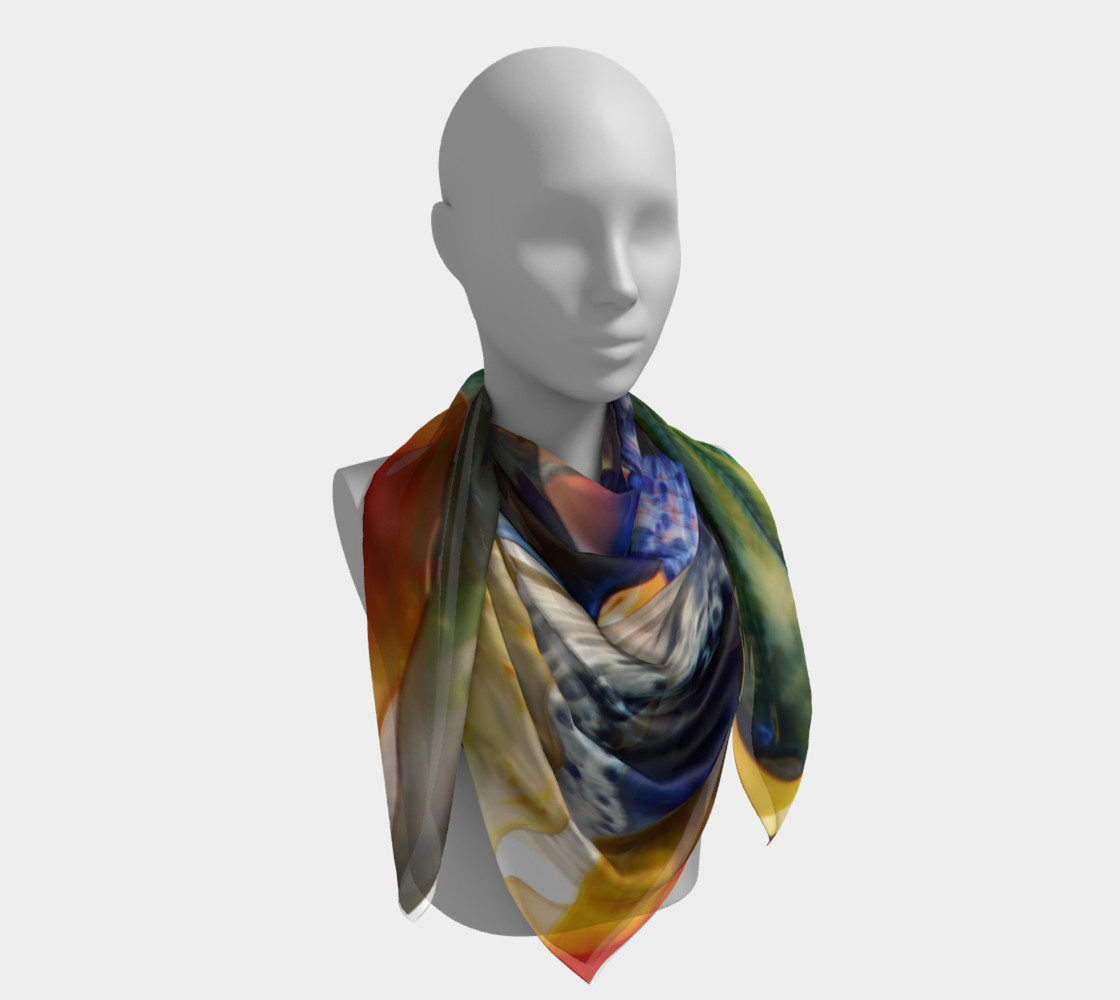 Fragile Flowers Large Silk Scarf preview #4