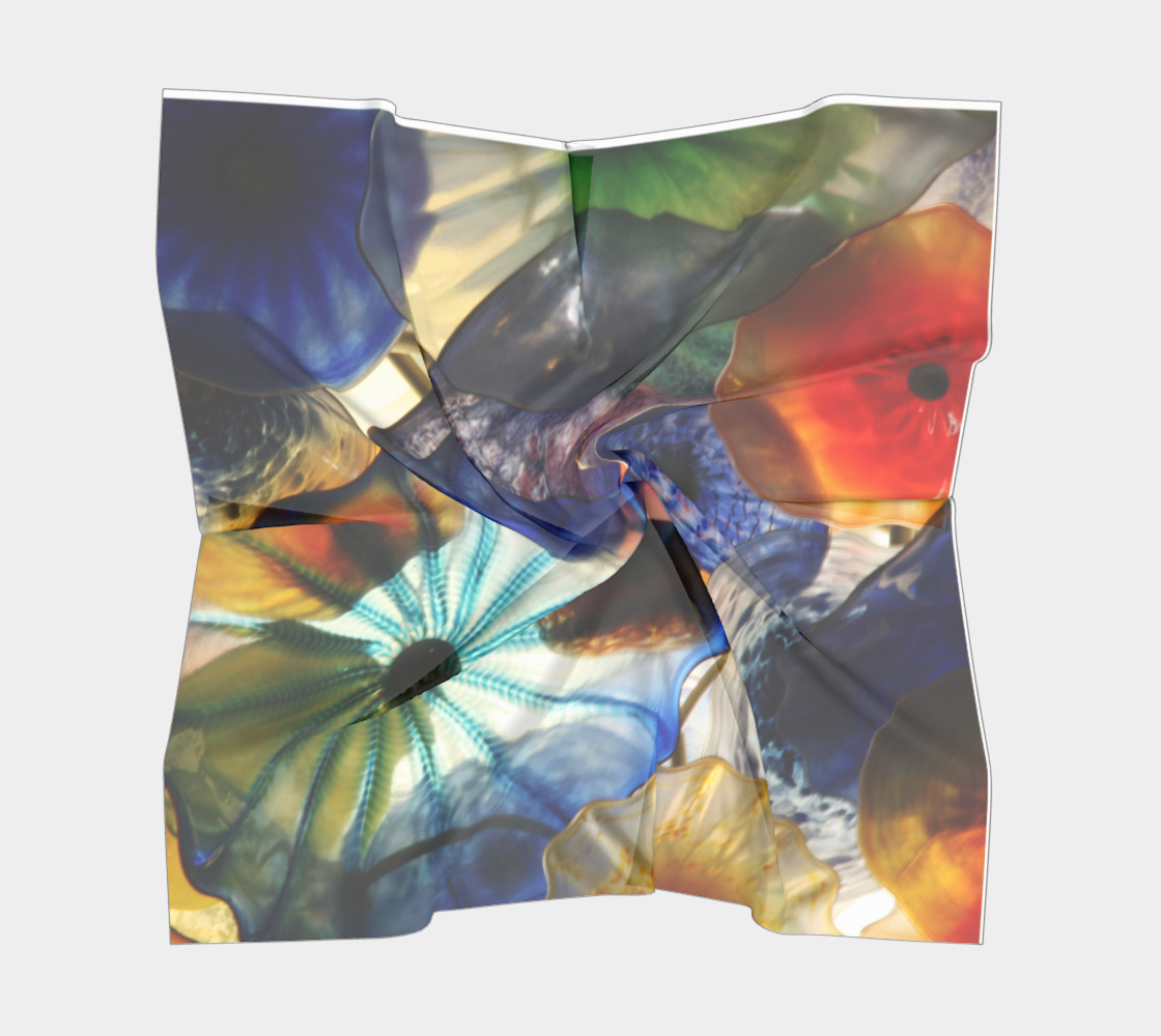 Fragile Flowers Large Silk Scarf preview #5