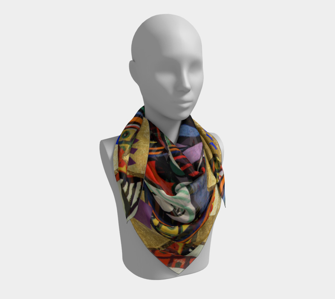 Picasso art collage Scarf preview #3