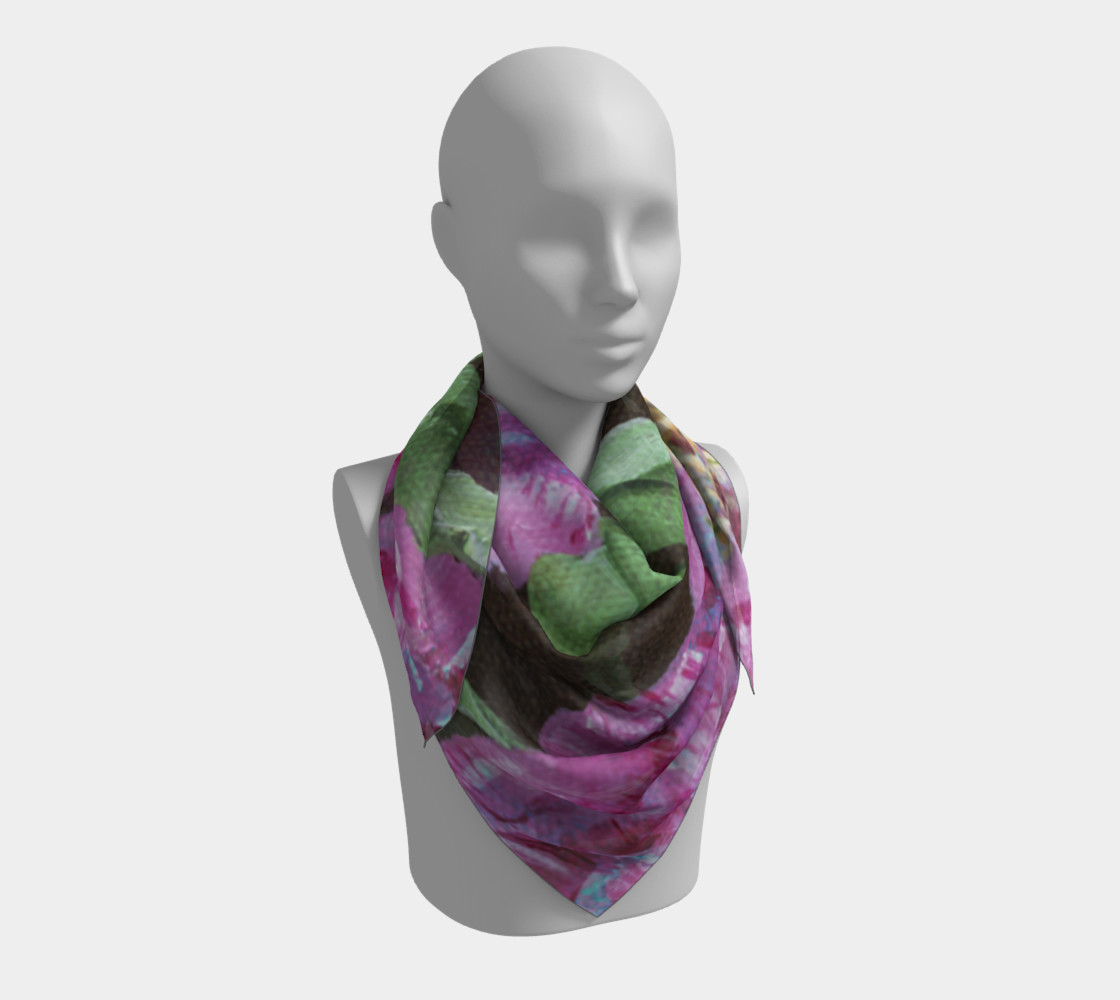 Japanese Peony Scarf preview #3