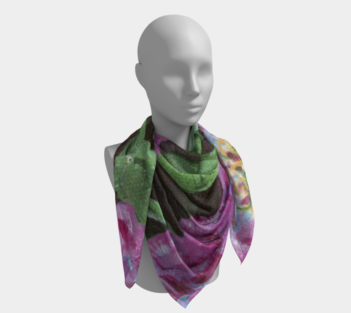 Japanese Peony Scarf preview #4
