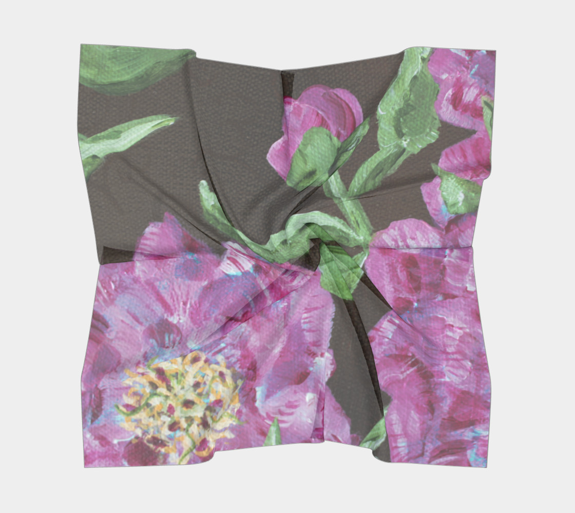 Japanese Peony Scarf preview #5