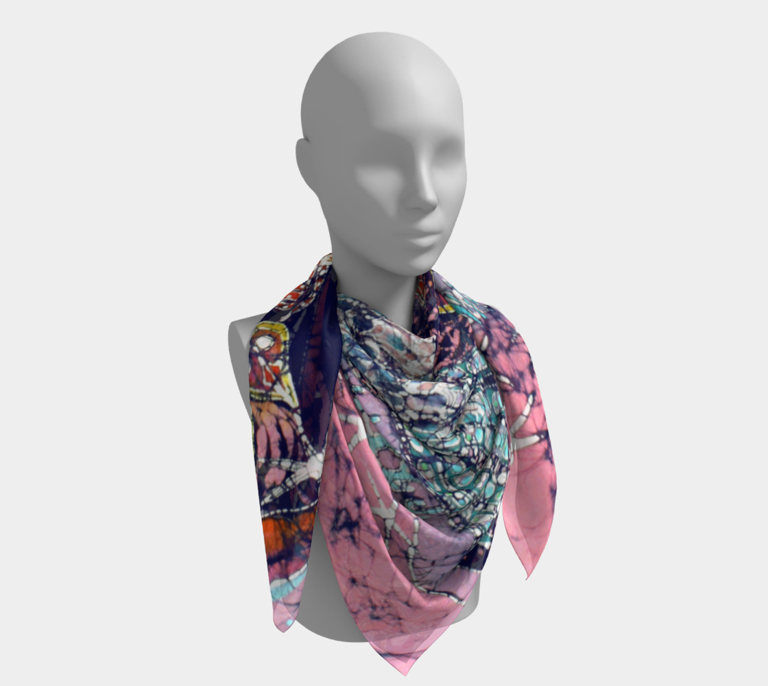 Magical Birds Square Scarf preview #4