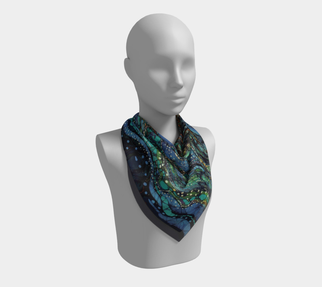 Breath Over Mountain Square Scarf preview #2