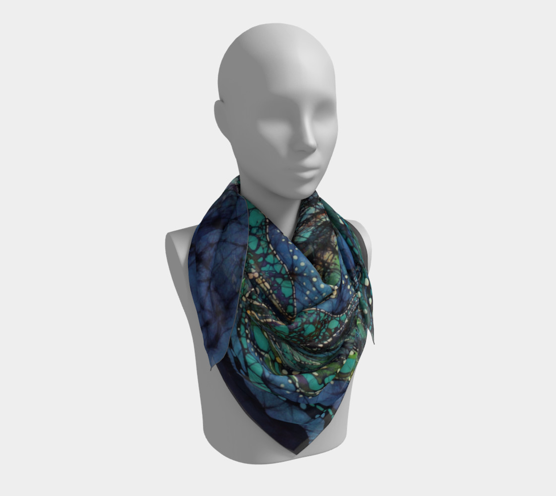Breath Over Mountain Square Scarf preview #3