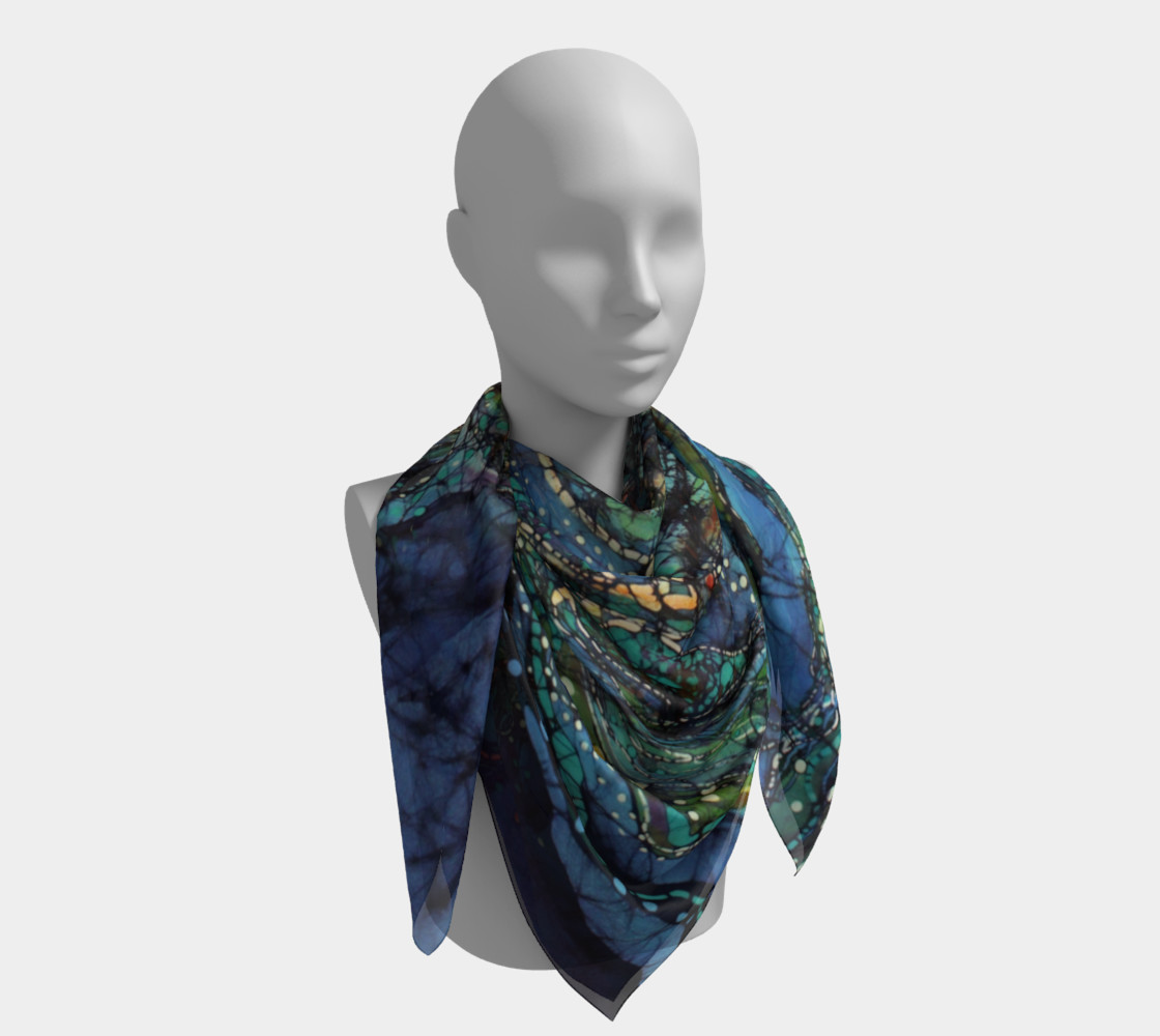 Breath Over Mountain Square Scarf preview #4