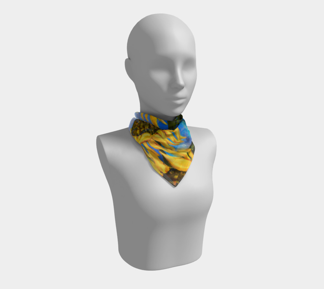 Vibrant Sunflowers Scarf preview #1