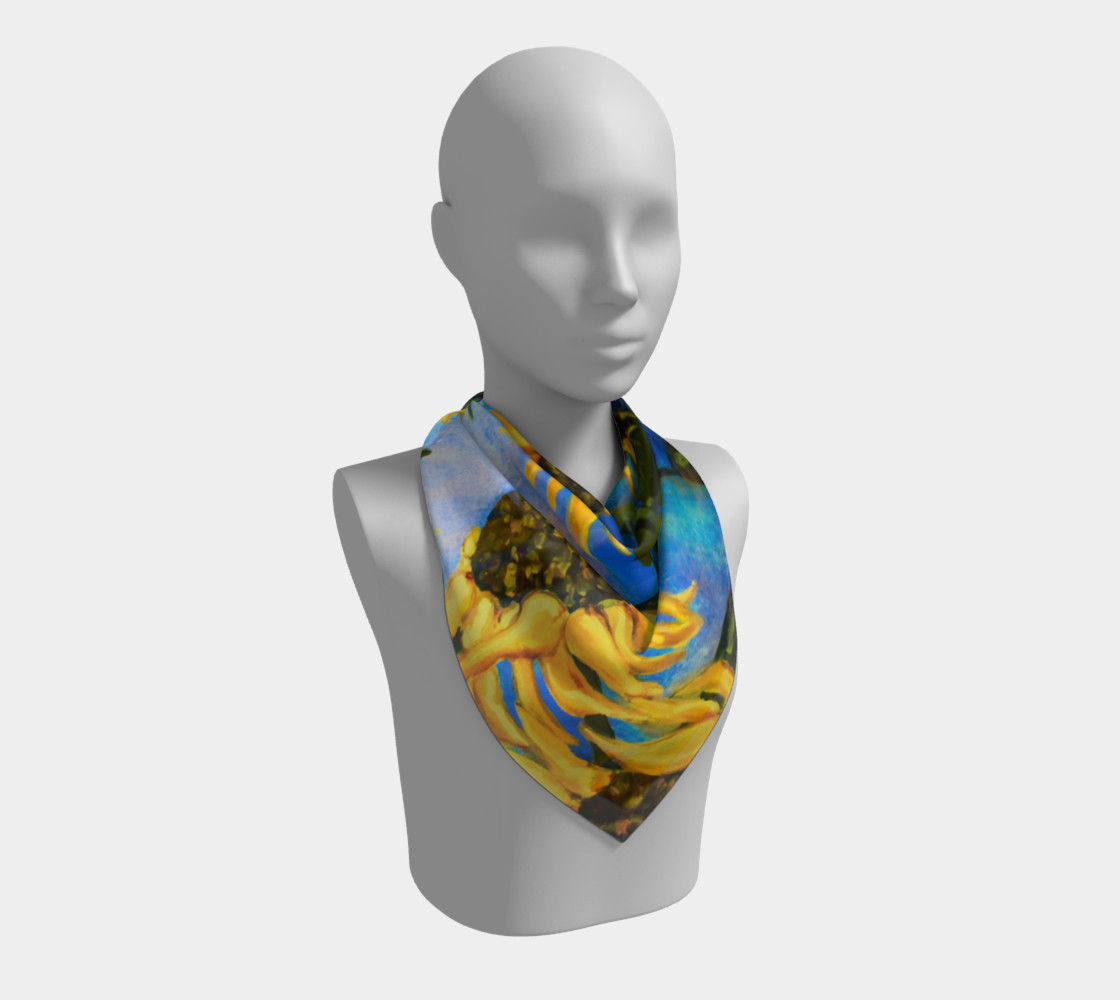Vibrant Sunflowers Scarf preview #2