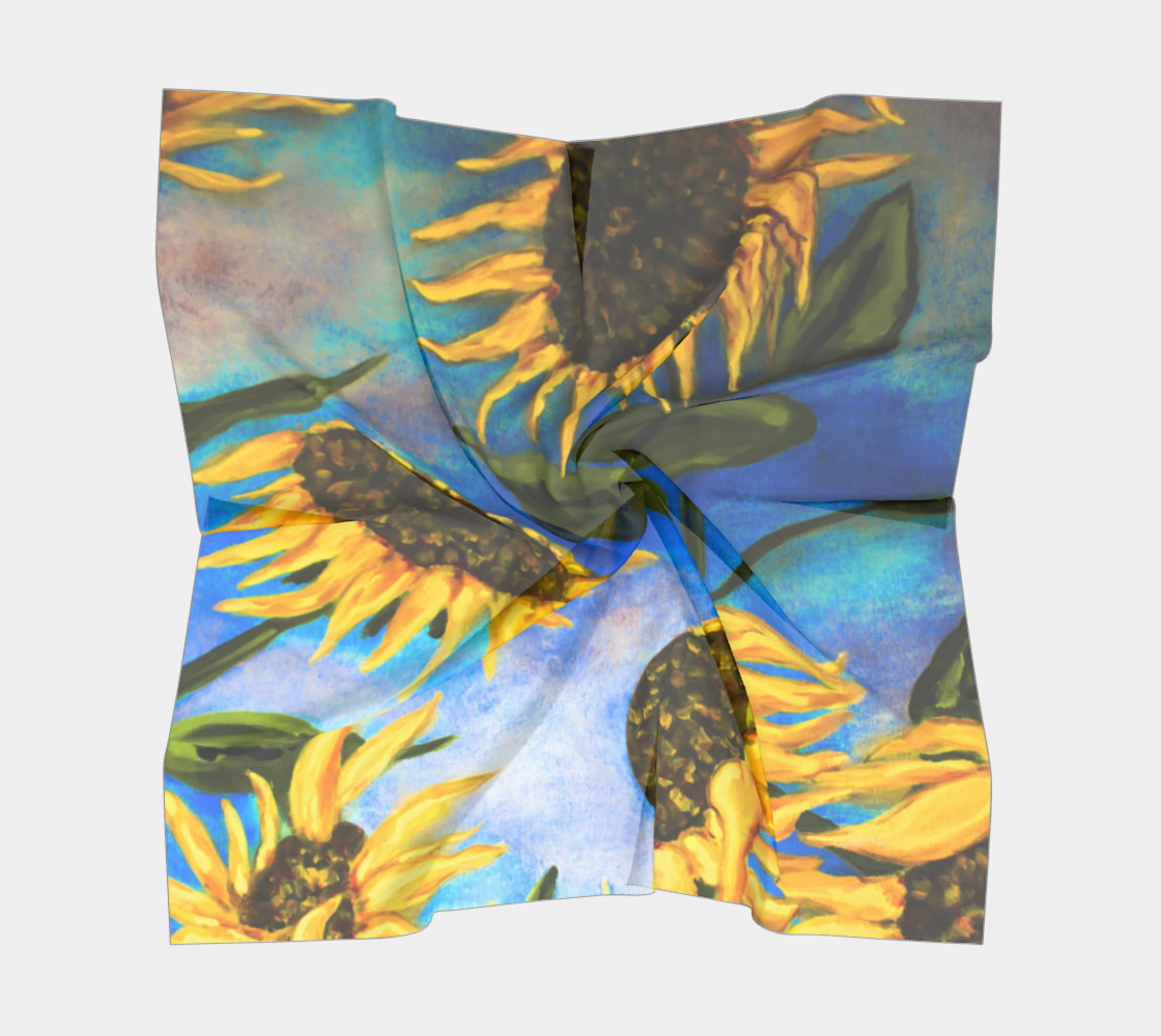 Vibrant Sunflowers Scarf preview #5