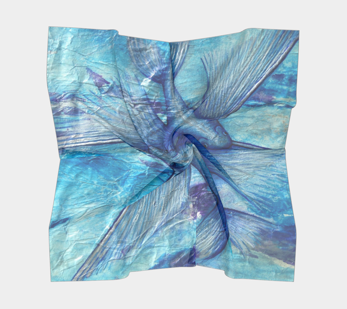 Catalina Flying Fish Scarf Miniature #6