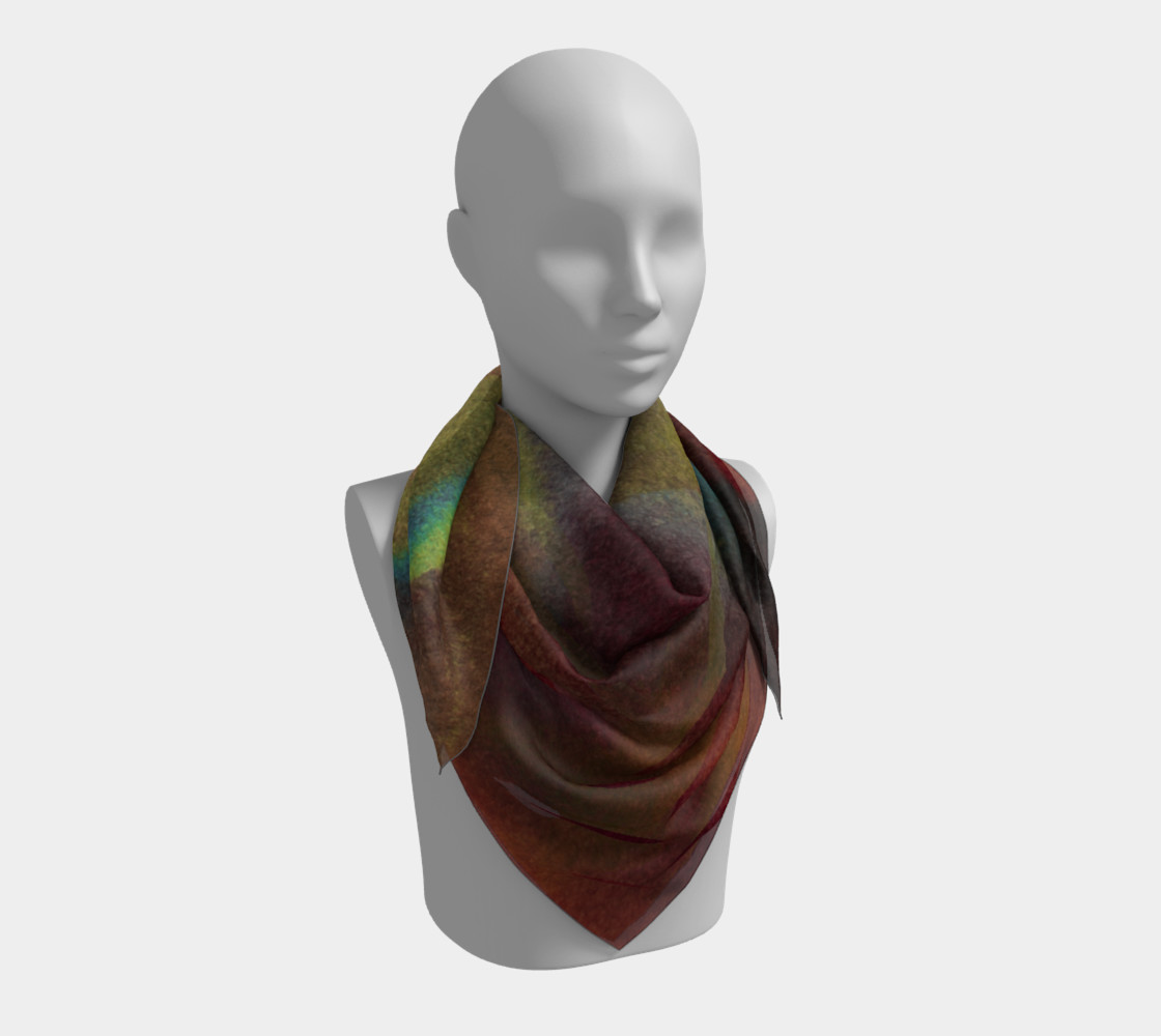 Tropical Watercolor Scarf preview #3