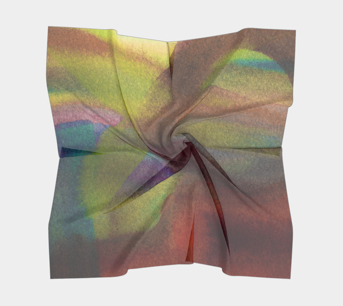 Tropical Watercolor Scarf preview #5