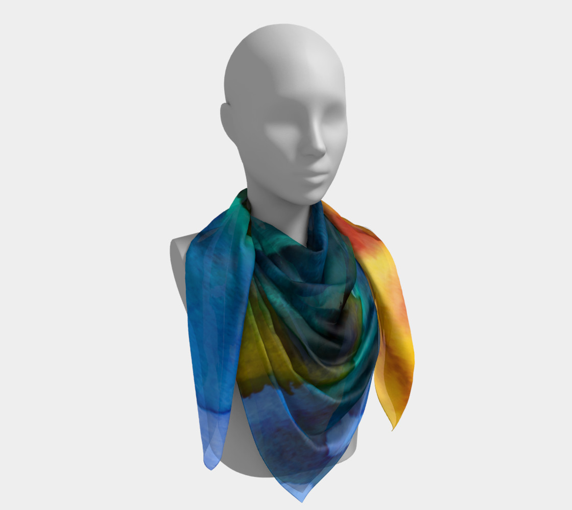 Watercolor Fashion  Scarf preview #4