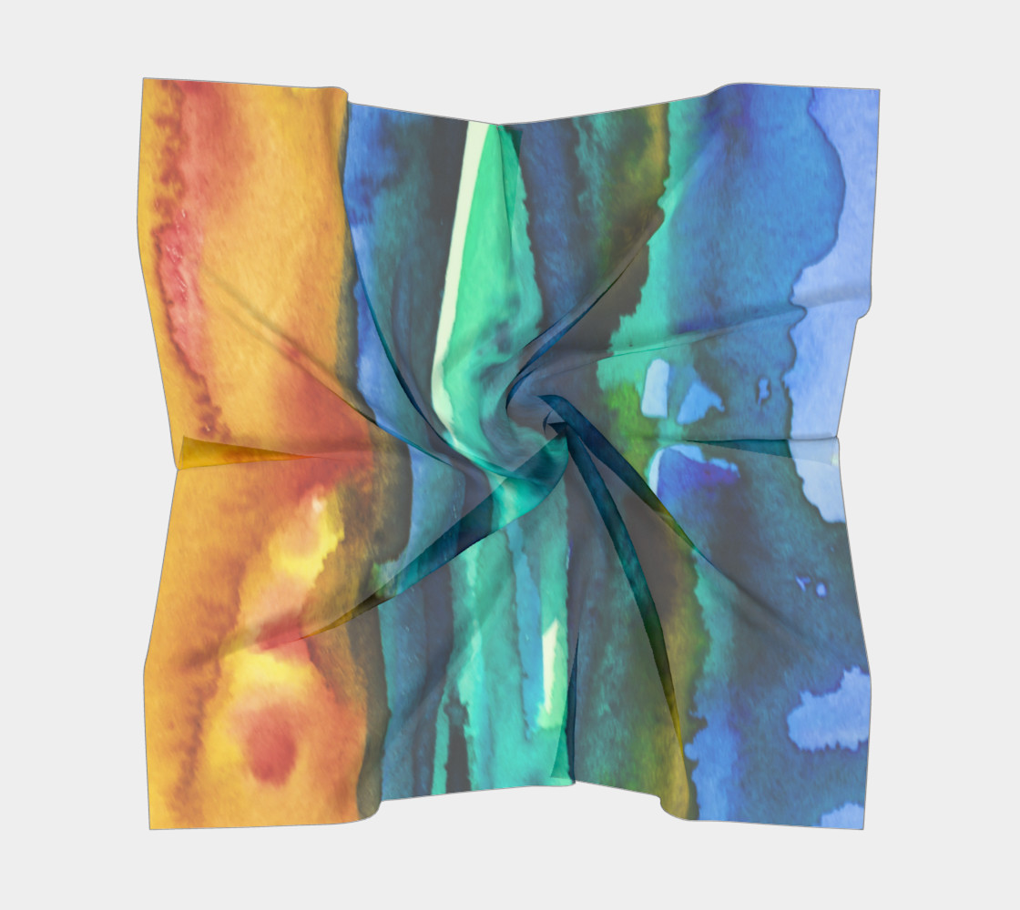 Watercolor Fashion  Scarf preview #5