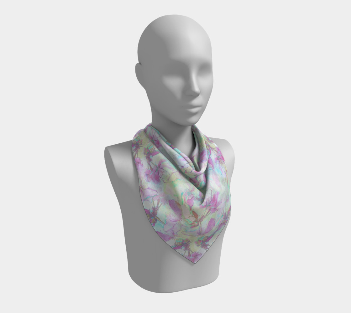 Flowering Apple 36 inch Square Scarf preview #2