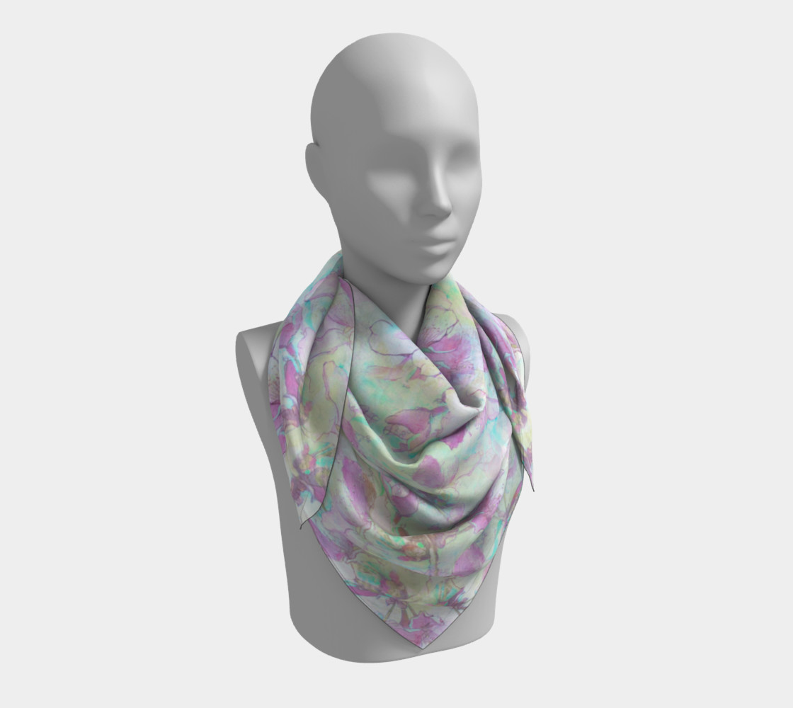 Flowering Apple 36 inch Square Scarf preview #3