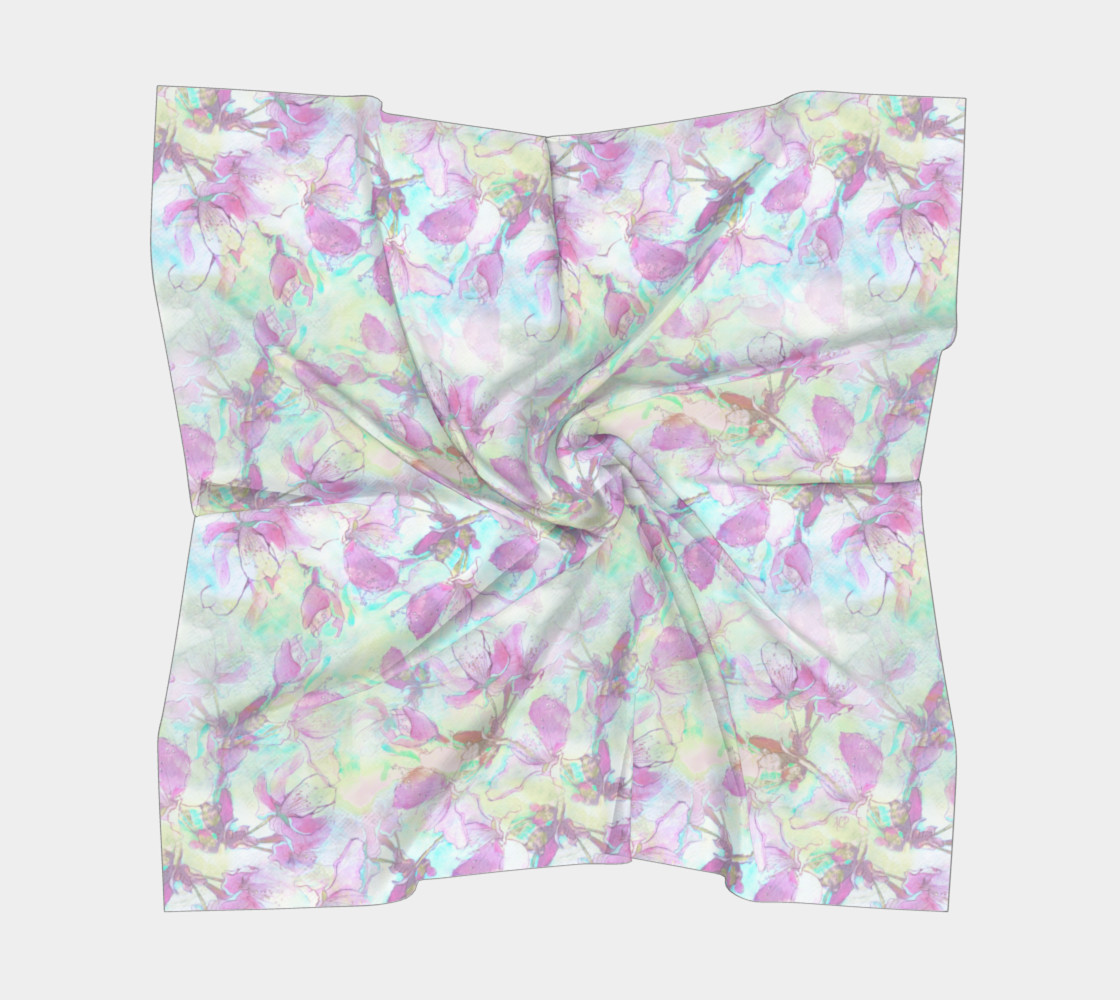 Flowering Apple 36 inch Square Scarf preview #5