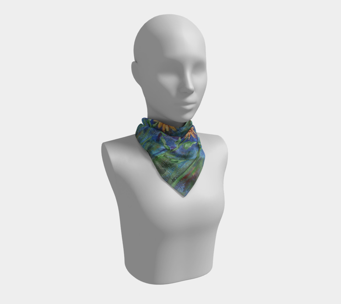 Sunflower Denim Scarf Large preview #1