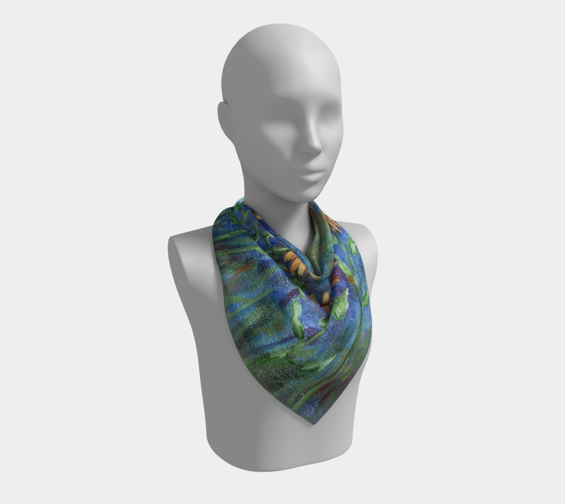 Sunflower Denim Scarf Large preview #2