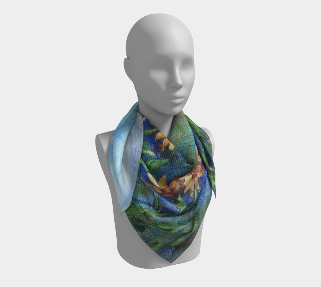 Sunflower Denim Scarf Large preview #3