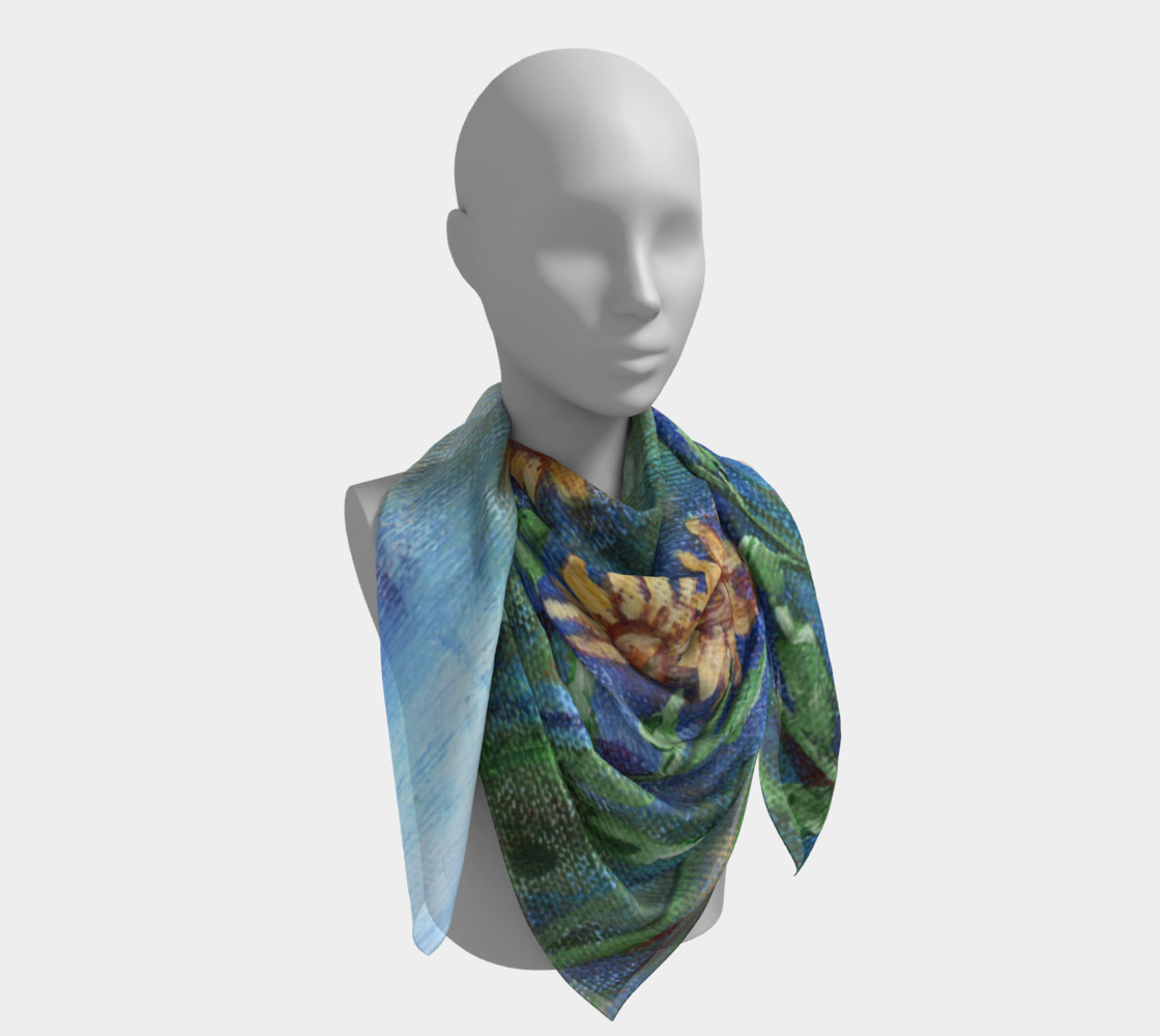 Sunflower Denim Scarf Large preview #4