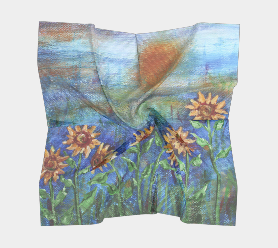 Sunflower Denim Scarf Large preview #5