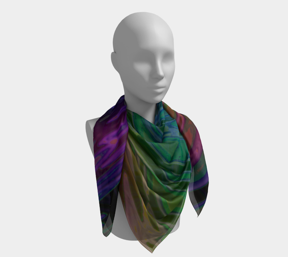 ColorWave Square Scarf preview #4