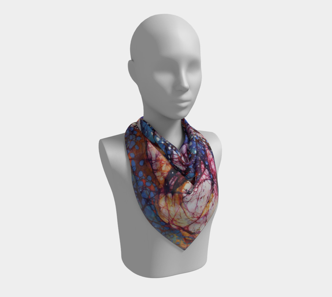 Horses Gallop in Snow Field Square Scarf preview #2