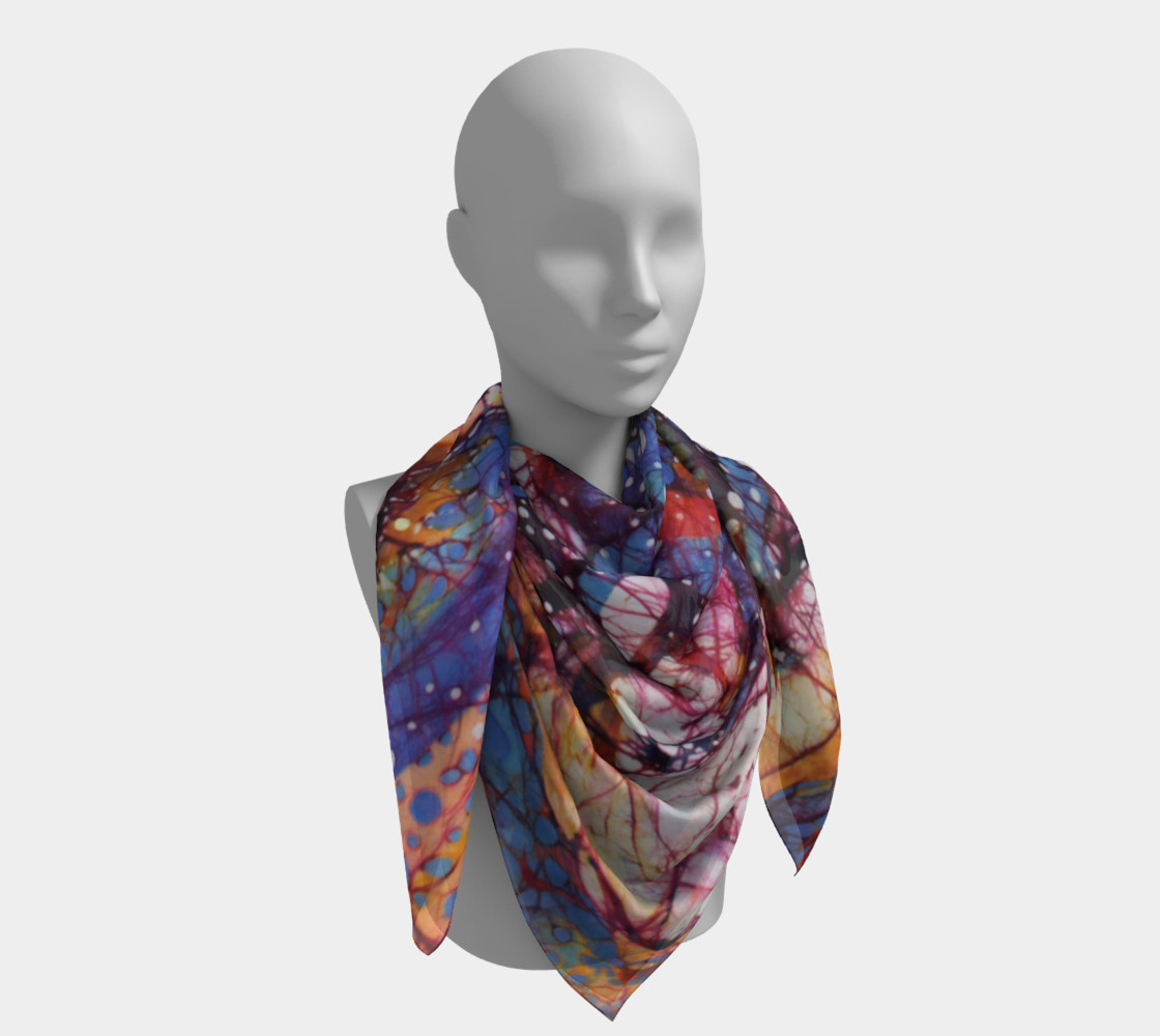 Horses Gallop in Snow Field Square Scarf preview #4