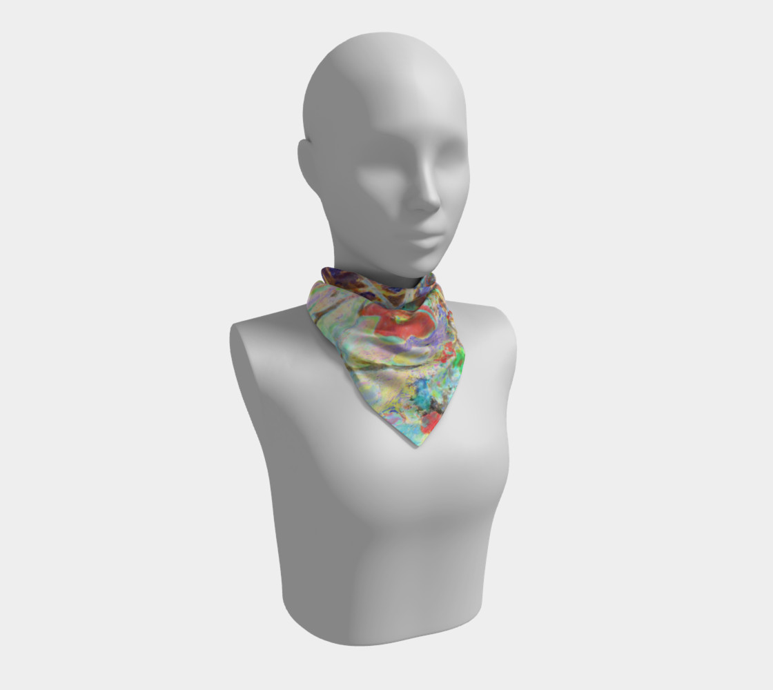 Pastel Floral Branch Square Scarf (26 preview #1