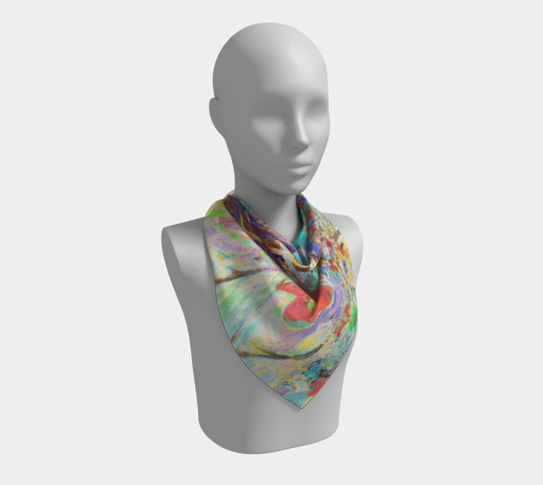 Pastel Floral Branch Square Scarf (26 preview #2
