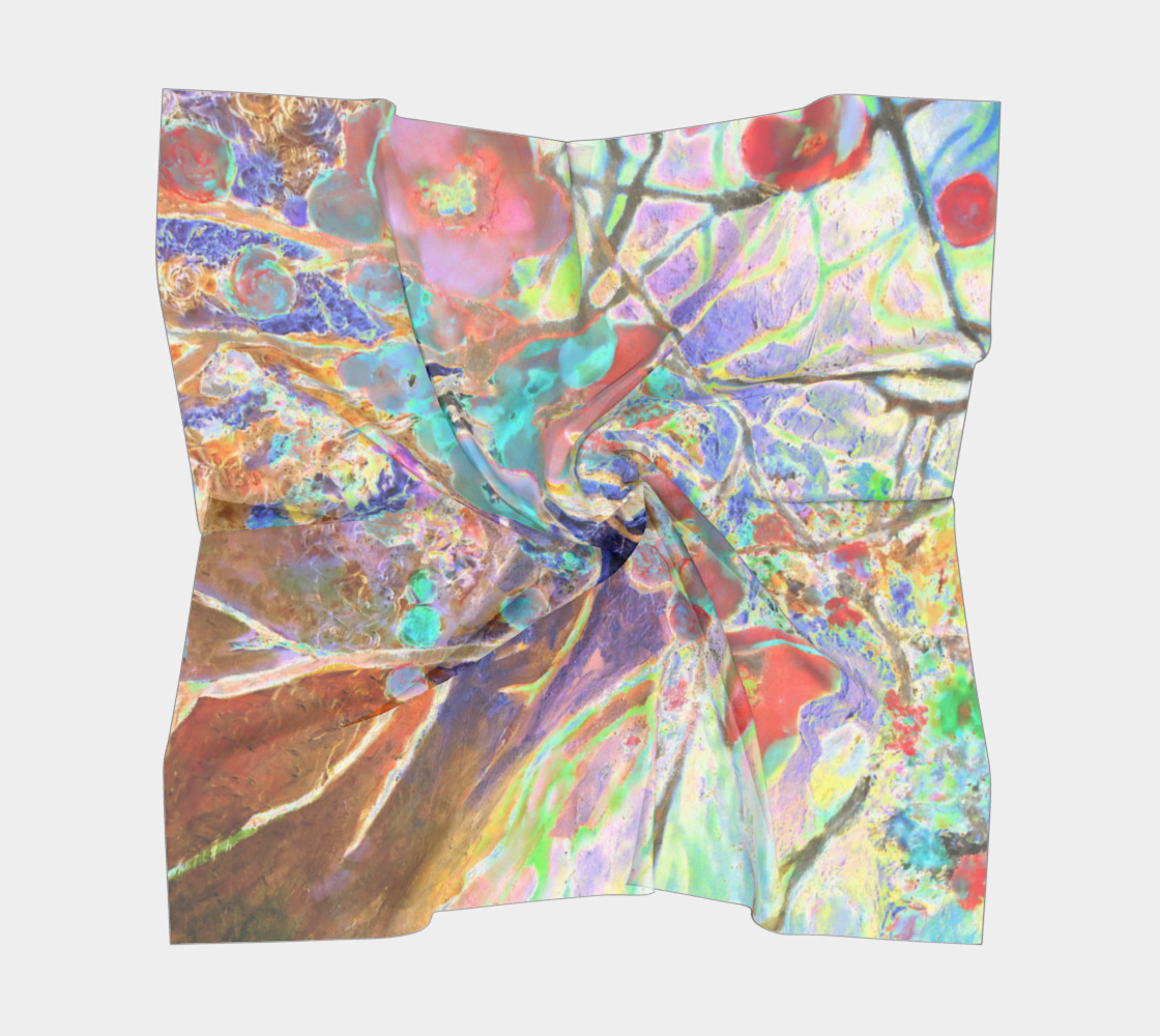 Pastel Floral Branch Square Scarf (26 preview #5