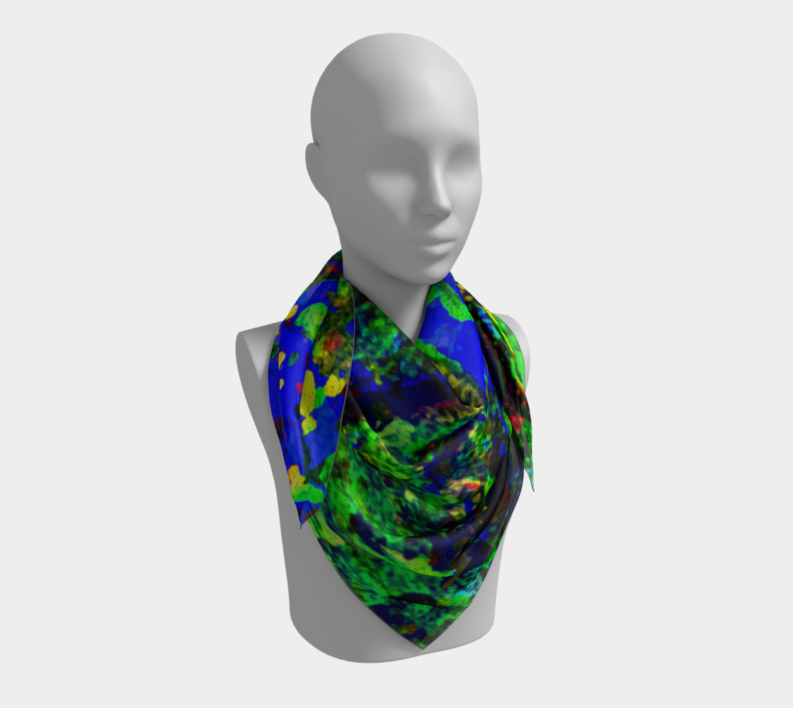 Aperçu 3D de Magic Trees at Midnight Square Scarf