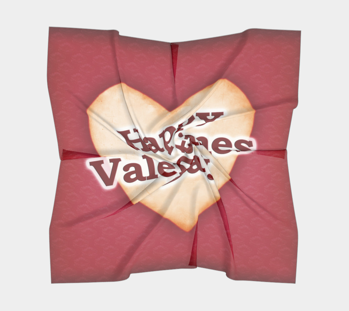 Aperçu de Heart Shaped Happy Valentine Day Text Scarf #5