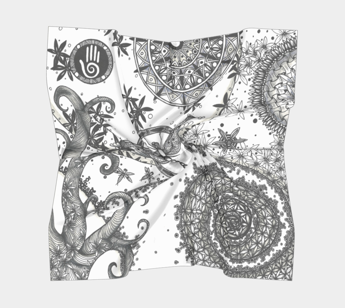 Dragonfly Sacred Geometry Scarf preview #5
