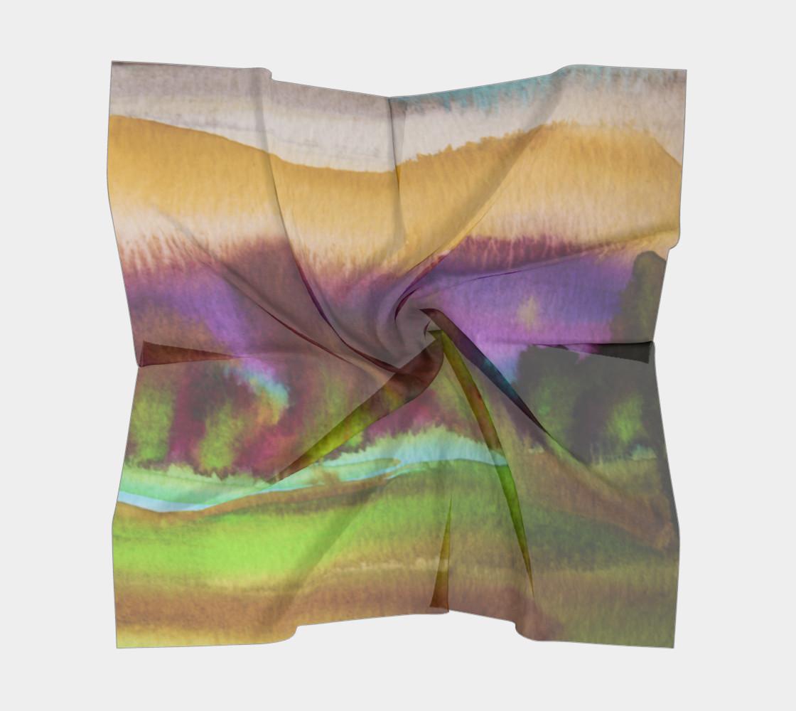 Vibrant Watercolor Square Scarf preview #5